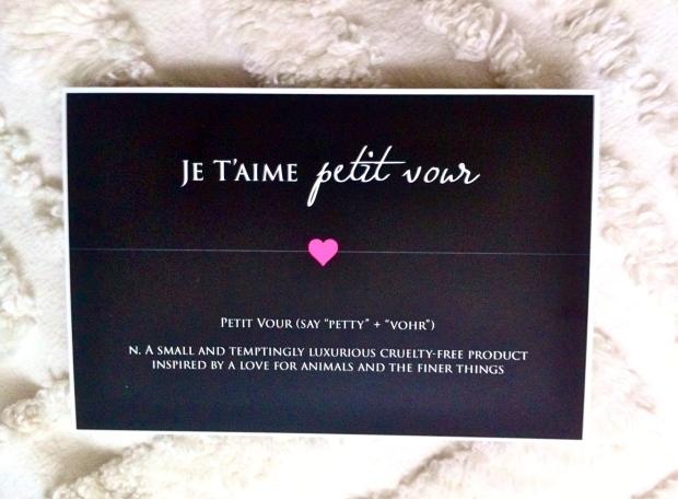 Petit Vour February 2015 Box
