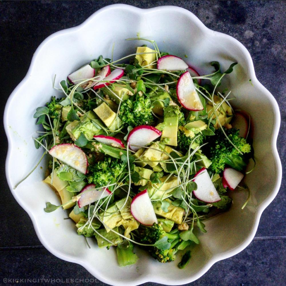 Broccoli and Avocado Salad – Deliciously Ella | Kicking It ...